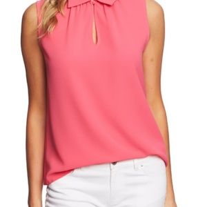 CeCe Tops - CeCe Peter Pan Collar Blouse